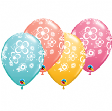 Floral Blossoms - 11 Inch Balloons 25pcs